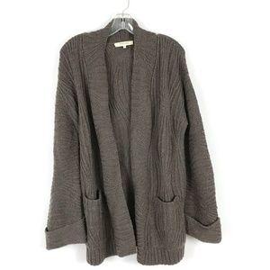 Inhabit wool Alpaca blend open front cardigan